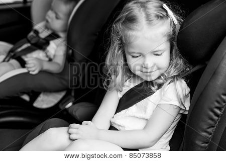 Toddler Cute Kids In Car Seats