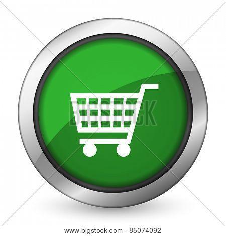 cart green icon shop sign