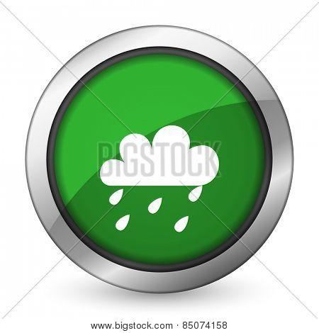 rain green icon waether forecast sign