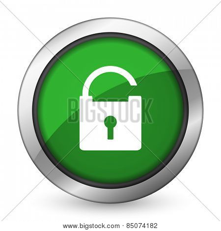 padlock green icon secure sign