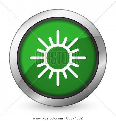 sun green icon waether forecast sign