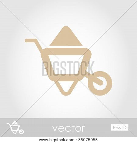 Wheelbarrow Carts Vector Icon