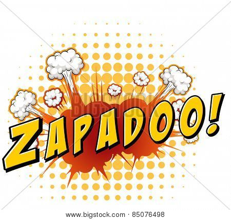 Zapadoo with yellow polkadot background