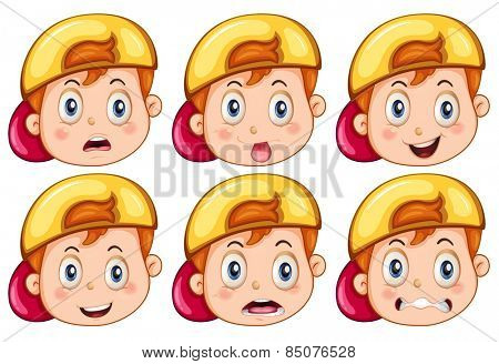 Boy with facial expressions