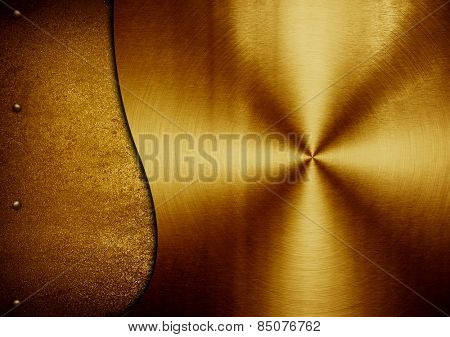 golden metal with s pattern