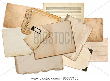 Old Paper Sheets, Book Pages, Cardboards, Photo Frames