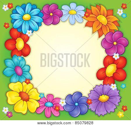 Frame with flower theme 2 - eps10 vector illustration.