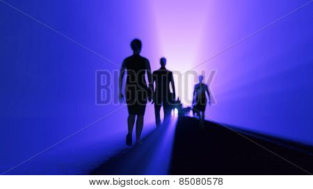 people go to the light