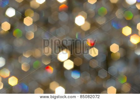 Bokeh, Christmas Lights Blurred In The Background