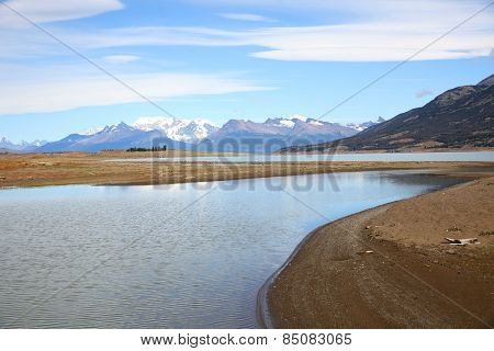 Stream getting to Argentino lake - South Patagonia