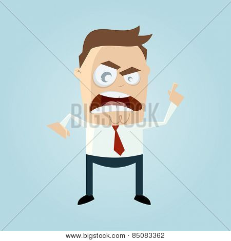 angry businessman pointing with finger