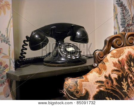 black vintage telehone