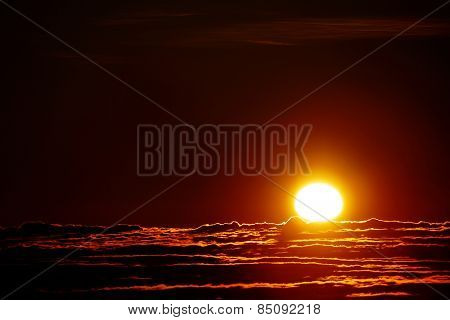 Sunrise seen from El Teide, Tenerife, Spain, Europe