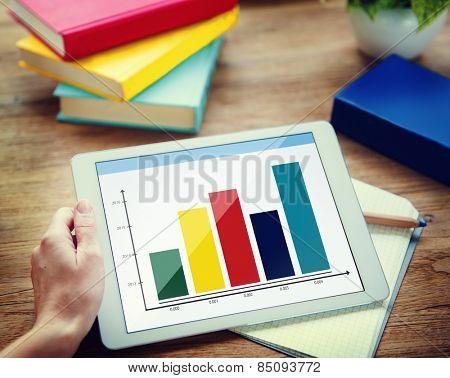 Bar Graph Growth Success Business Chart Concept
