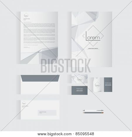 Grey Stationery Template Design for Your Business | Modern Vector Design