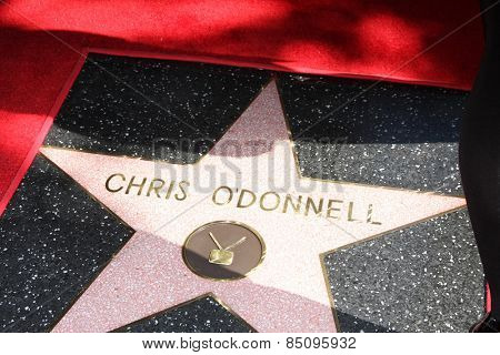 LOS ANGELES - MAR 5:  Chris O'Donnell's Star at the Chris O'Donnell Hollywood Walk of Fame Star Ceremony at the Hollywood Blvd on March 5, 2015 in Los Angeles, CA