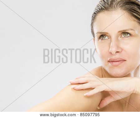 Beauty portrait of tended woman