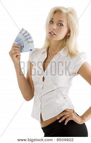 Blond With Fan Money
