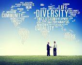foto of racial diversity  - Diversity Ethnicity World Global Community Concept - JPG