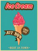 stock photo of ice cream parlor  - Best in town vintage menu card design for ice cream parlor or restaurant - JPG