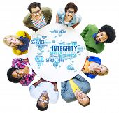 foto of integrity  - Integrity Honesty Sincerity Trust Reliability Concept - JPG