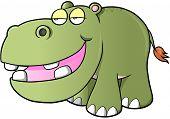 picture of hippopotamus  - Lazy hippopotamus Vector Illustration Art - JPG