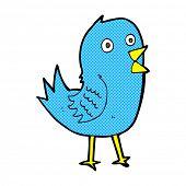 picture of bluebird  - retro comic book style cartoon bluebird - JPG
