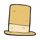 stock photo of crazy hat  - retro comic book style cartoon old hat - JPG