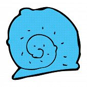 image of snail-shell  - retro comic book style cartoon snail shell - JPG
