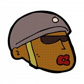 picture of policeman  - retro comic book style cartoon policeman head - JPG