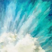 picture of abstract painting  - Blue abstract dramatic artistic colorful vintage oil painting background - JPG