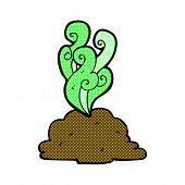 stock photo of smelly  - retro comic book style cartoon smelly poop - JPG