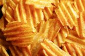 pic of potato chips  - Delicious potato chips closeup background - JPG