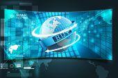 stock photo of ebusiness  - 3D rendering e - JPG