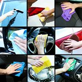 stock photo of window washing  - Car - JPG