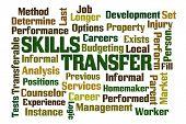 stock photo of transfer  - Skills Transfer word cloud on white background - JPG