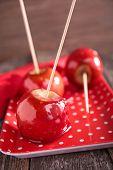 stock photo of toffee  - toffee apple - JPG
