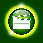 pic of clapper board  - movie clapper board movie maker vector - JPG