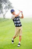 pic of take off clothes  - Golfer teeing off at the golf course - JPG