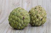 picture of custard  - Asian fruit Custard apple  - JPG