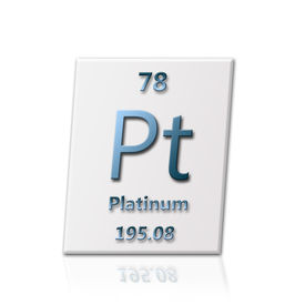 stock photo of periodic table elements  - There is a chemical element Platinum with all information about it - JPG