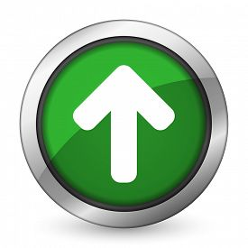 picture of arrow  - up arrow green icon arrow sign  - JPG