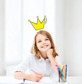 stock photo of princess crown  - education - JPG