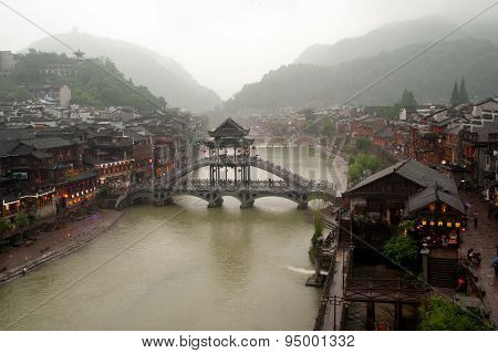 View Of The Phoenix Town ( Fenghuang Ancient City ).