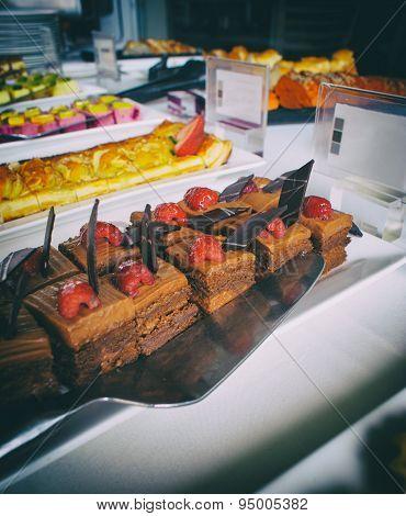 Chocolate And Strawberry Dessert