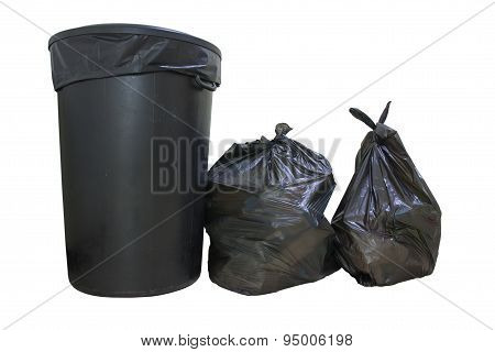 Buckets And Garbage Bags.