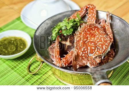 Vietnamese hot ppot of sea crab