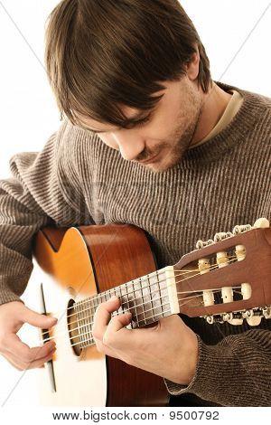 Guitar Playing Close-up