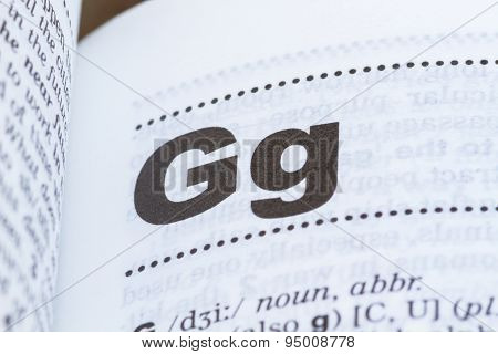 Letter G In Dictionary