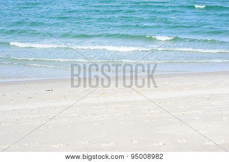 White Sand Beach And Seaside